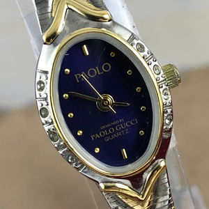 Paolo Gucci 2 Tone Gold and Silver Designer Watch